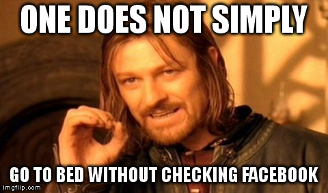 One does not simply Facebook Meme