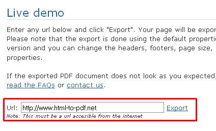 Convert webpages to pdf