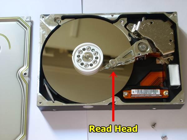 open hard disk read head - Easily Fix Blue Screen of Death Error