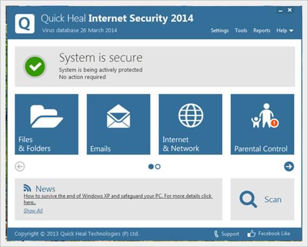 quick heal internet security 2014 - Easily fix blue screen of death error