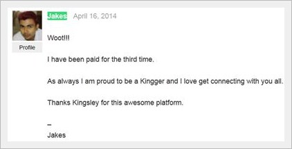 jakes 3rd payment on Kingged.com - make money online