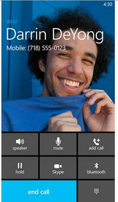 We d probably expected this in windows phone 8 but skype came as a