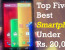 Top Five Best Smartphones Under Rs. 20,000 Rupees in 2015