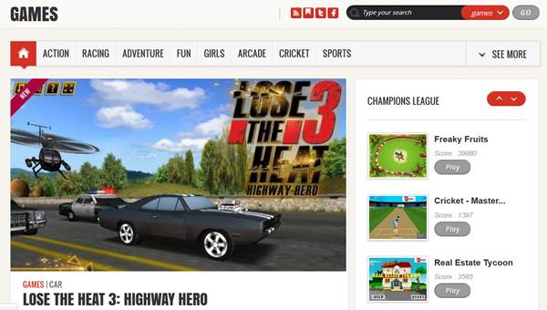 play free online games on in.com