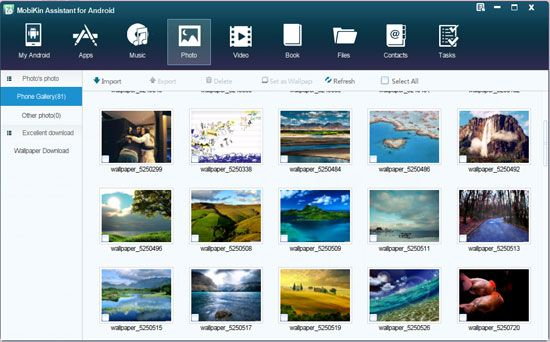 Mobikin assistant for android pc suite - media