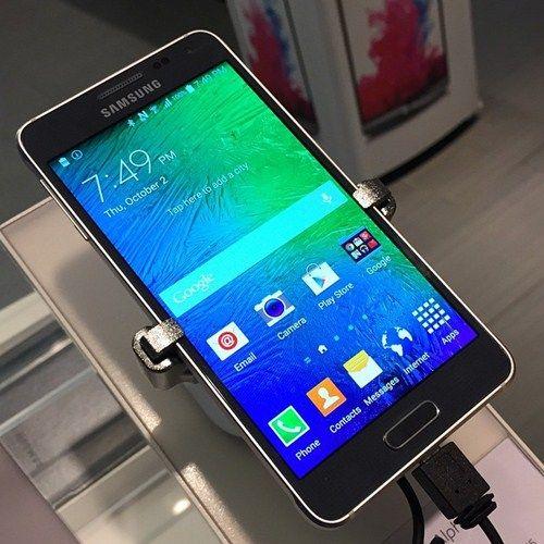 Samsung Galaxy Alpha Phone With Metal Clad Design