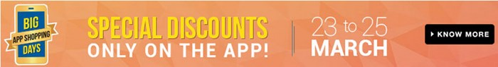 Flipkart Big App Shopping Sale from 23-25th March - Image 1