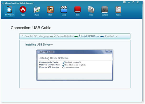 Vibosoft Android Mobile Manager - Download Drivers