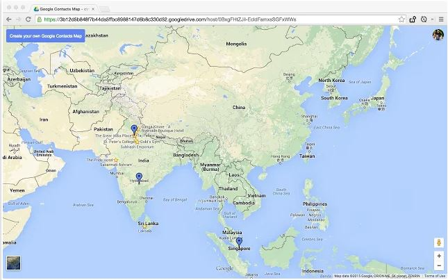 Visualize Your Friends Location on Google Map Using A Simple App