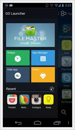 Android Launcher Best Top 5 GO launcher EX image 6