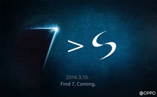 "Oppo find 7 samsun galaxy s5 teaser - Oppo Find 7; World's first 5.5"" 2K display smartphone launched"