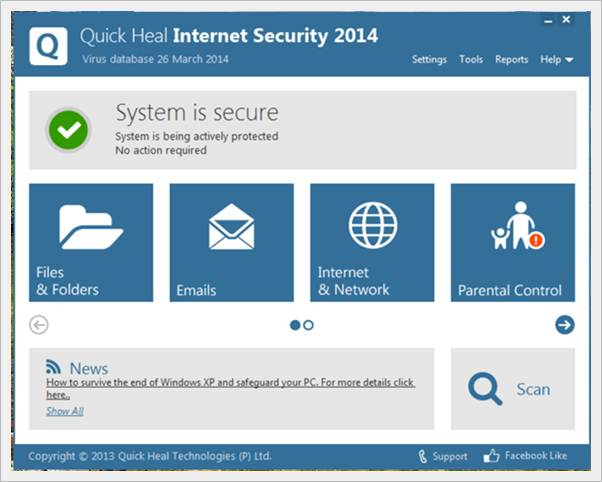quick heal internet security 2014 - Easily fix blue screen of death error