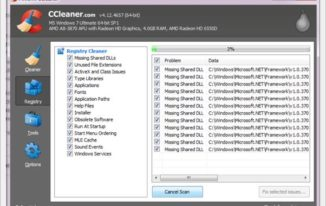 registry clean using ccleaner