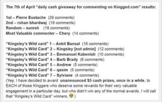 Kinsley Wild Card on Kingged.com - make money online