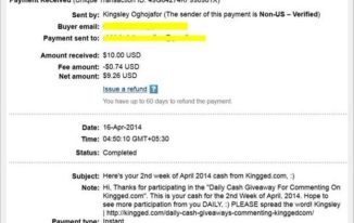 paypal payment proof of $10 - make money online on Kingged.com