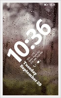 windows phone 8.1 lockscreen