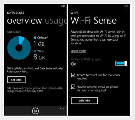 windows phone 8.1 wifi sense