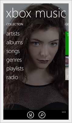 windows phone 8.1 xbox music