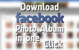Download Facebook Photo Album in One Click