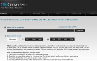 convert youtube videos using online video converter - Clipconverter.cc