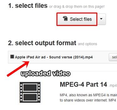 convert youtube videos using online video converter - cloudconvert - choose video