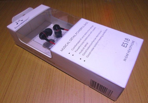 SoundMagic ES18 Review - Product Packaging