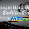 Create Hard Disk Partition Easily in Windows 7 or Windows 8