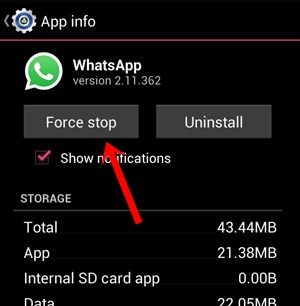 Greenify - Deactivate whatsapp and receive Whatsapp notification 3