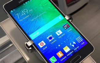 Samsung Galaxy Alpha Phone With Metal Clad Design