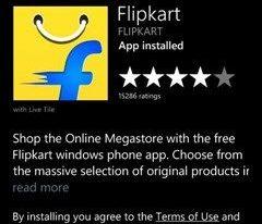 Flipkart Big App Shopping Days - Download via Windows Marketplace
