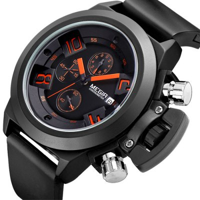 MEGIR Water Resistant Black Watch