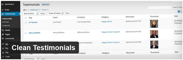 Clean Testimonials WordPress Plugin - Best WordPress Referral Plugins